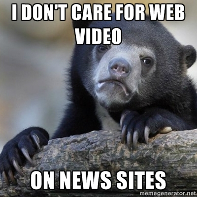 I don't care for web video on news sites