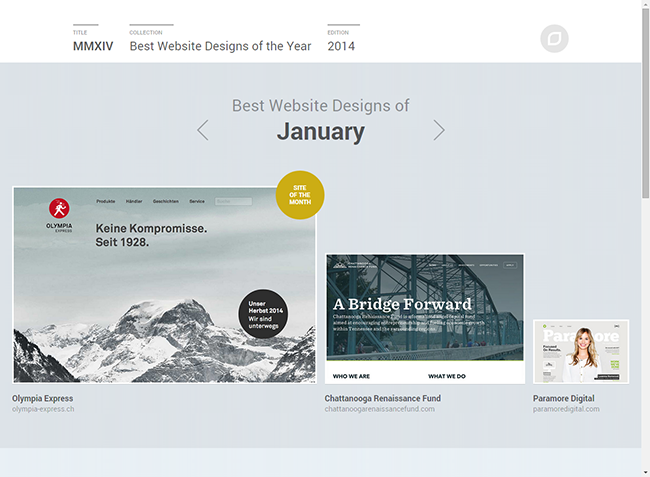 The Best Website Designs of the Year Site