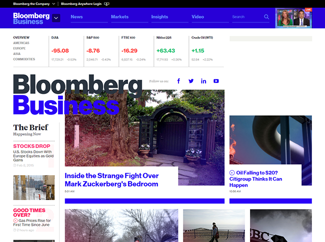 Bloomberg Business Site