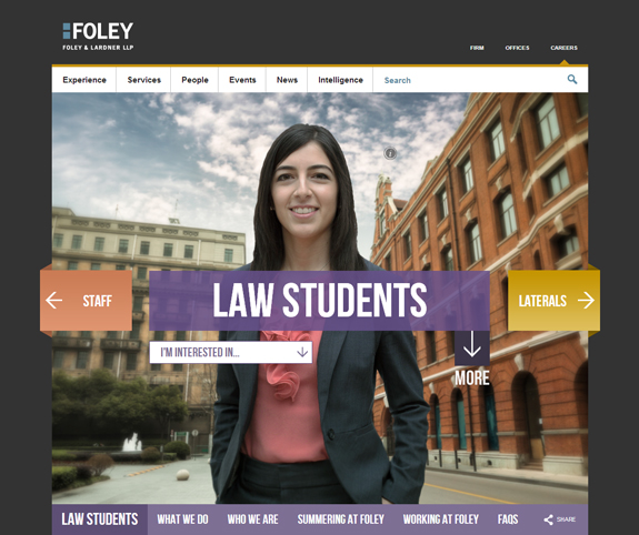 Foley Careers Homepage