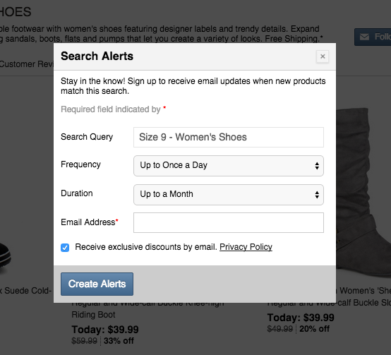 "Overstock's ""Follow This Search"" Feature"