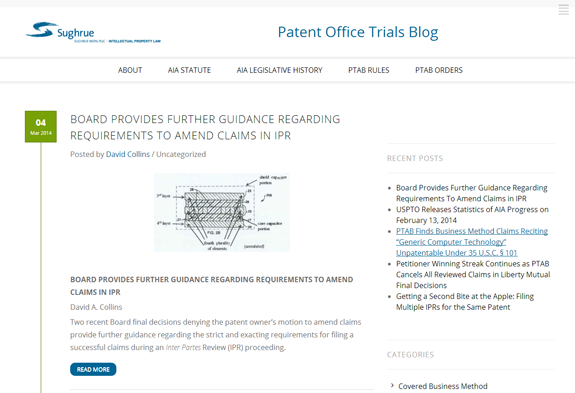 Sughrue Patent Office Trials Blog