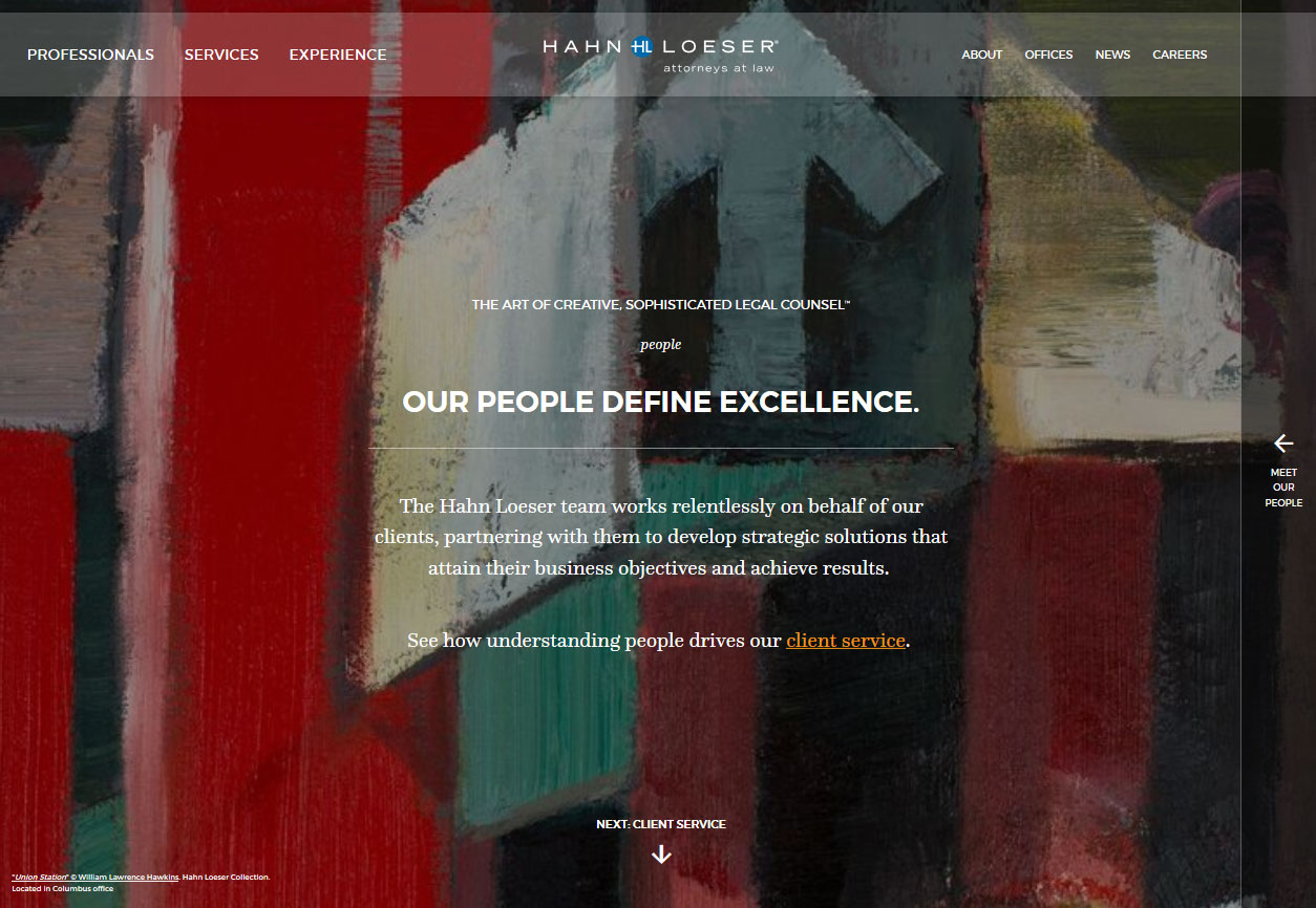 Hahn Loeser Website Launch