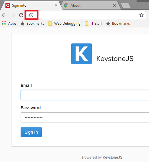Web Forms Update Chrome